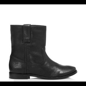 Women's Anna Short Round Toe Leather Boots